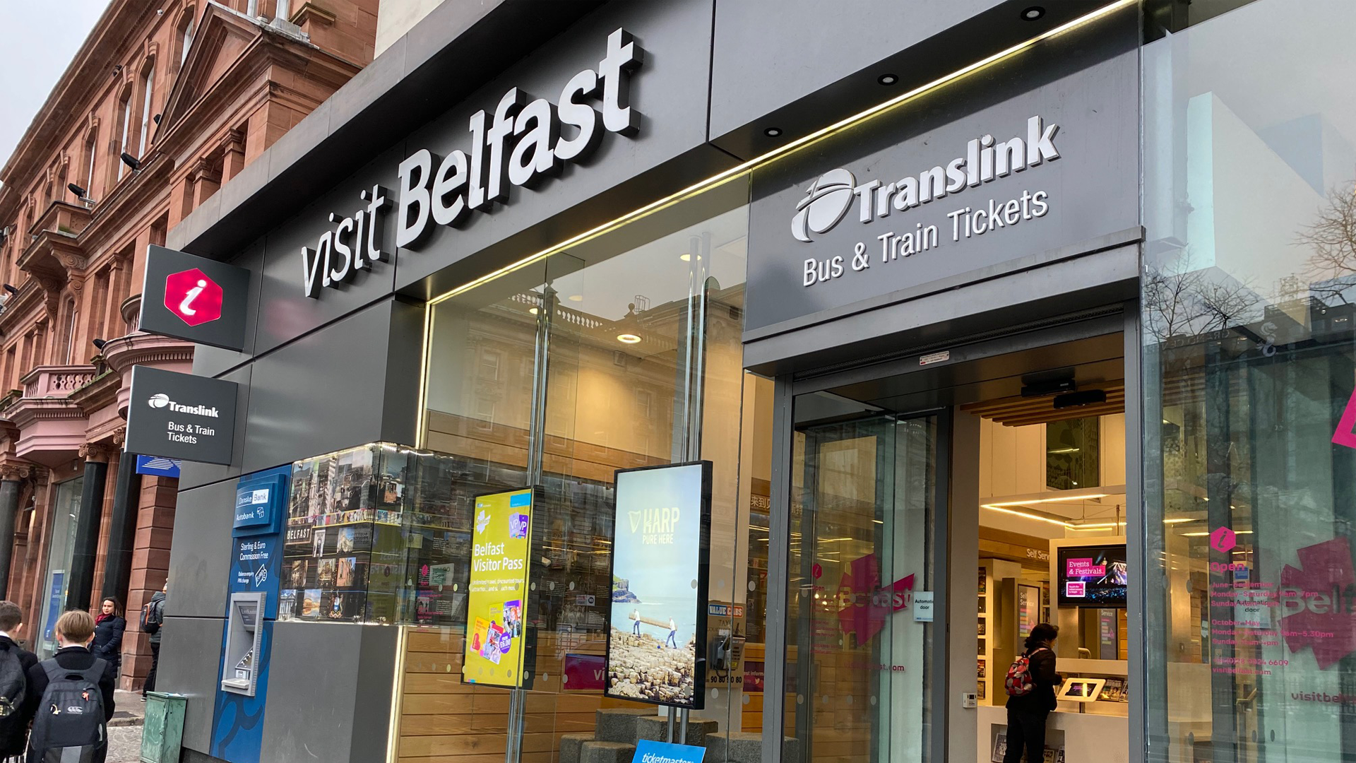 Visit Belfast Welcome Centre 1 with Translink